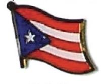 PUERTO RICO - Wholesale lot of 12 flag lapel pins ef192