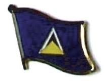 SAINT LUCIA - Wholesale lot of 12 flag lapel pins ef199