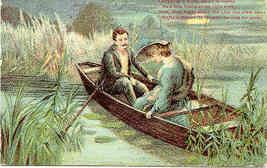 Lovers In The Moonlight Paul Finkenrath Post Card - $7.00