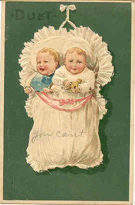 The Duet  Paul Finkenrath of Berlin 1917 Post Card