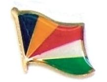 SEYCHELLES - Wholesale lot of 12 flag lapel pins ef210