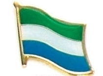SIERRA LEONE - Wholesale lot 12 flag lapel pins ef211