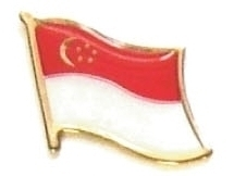 SINGAPORE - Wholesale lot 12 flag hat lapel pins ef212