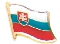 SLOVAKIA - Wholesale lot 12 flag hat lapel pins ef213