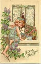 Happy New Year Paul Finkenrath of Berlin Post Card - $7.00