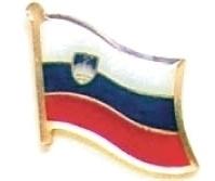 SLOVENIA - Wholesale lot 12 flag hat lapel pins ef214