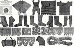 c1890 Victorian Stocking Knitting Pattern Book Underwear Socks Vest Purse Lace 5