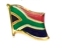 SOUTH AFRICA - Wholesale lot 12 flag lapel pins ef218