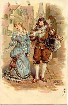 A Cavalier and Lady Paul Finkenrath of Berlin Post Card