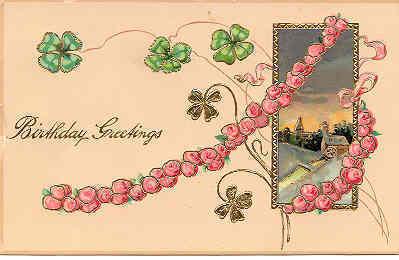 Birthday Greetings Paul Finkenrath of Berlin 1907 Post Card