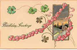 Birthday Greetings Paul Finkenrath of Berlin 1907 Post Card - $6.00