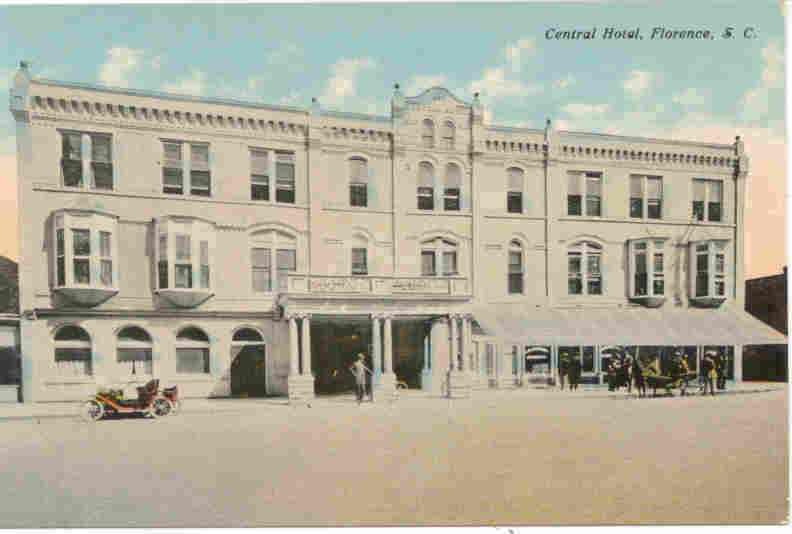 The Central Hotel Florence South Carolina vintage Post Card
