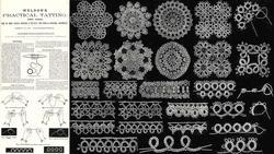 c1890 Victorian WELDONS Tatting Book DIY Tatted Lace Lacemaker Patterns Motifs