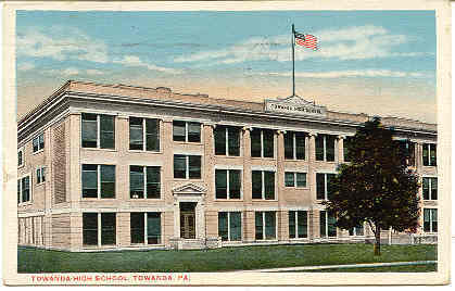 The New High School Towanda Pennsylvania 1916 Post Card