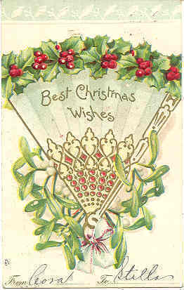 Best Christmas Wishes Vintage1906 Post Card