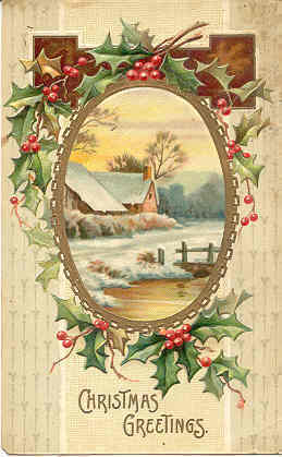 Christmas Greetings International Art Co 1911 Post Card