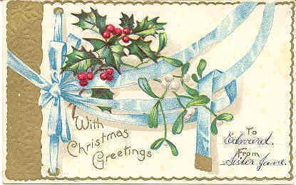 Christmas Greetings International Art Co 1906 Post Card