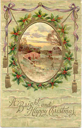 Happy Christmas vintage1908 Post Card