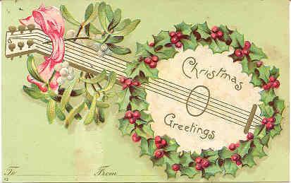 Christmas Greetings 1906 Vintage Post Card