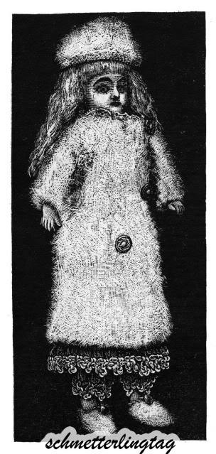 c1895 Victorian Gibson Girl Doll Bonnet Dress Socks Book Knit Dress Patterns 24