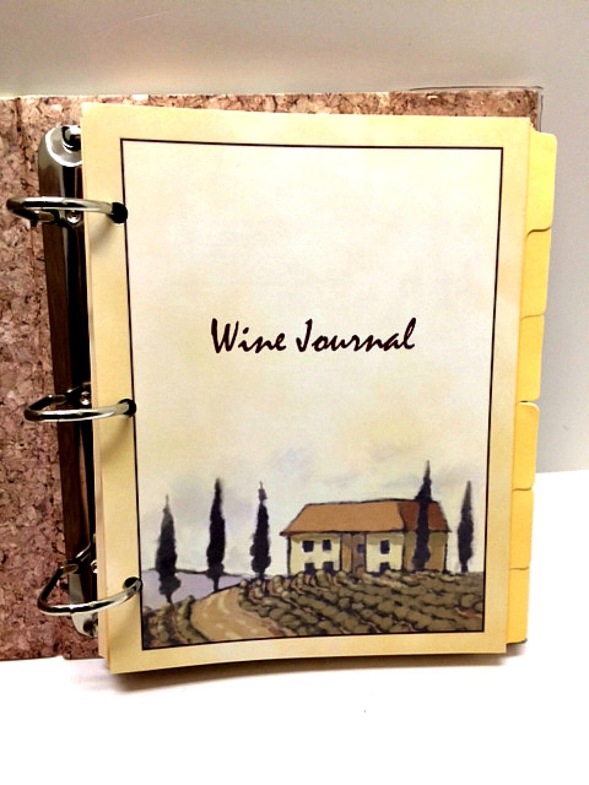 Wine Journal Tasting Album Covered Hardback Book Quality Connoisseur Diary