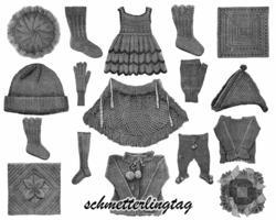 c1895 Victorian Knitting Pattern Book Quilts Hats Cape Socks Doilies Stockings 8