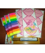Sticky Notes Pink Kiss Lips Rainbow Flags Weekl... - $12.00