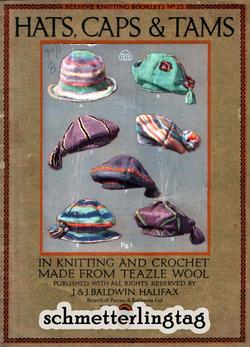 c1900 Millinery Book Victorian Edwardian Gibson Girl Knit Crochet Hats Caps Tams