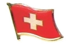 SWITZERLAND - Wholesale lot of 12 flag lapel pins ef226
