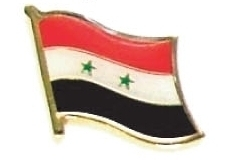 SYRIA - Wholesale lot of 12 flag hat lapel pins ef227