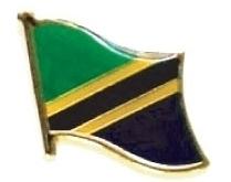 TANZANIA - Wholesale lot 12 flag hat lapel pins ef230