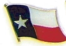 TEXAS - Wholesale lot 12 state flag lapel pins ep544