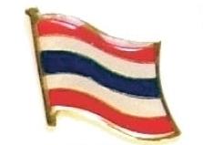 THAILAND - Wholesale lot 12 flag hat lapel pins ef231