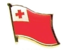 TONGA - Wholesale lot of 12 flag hat lapel pins ef234