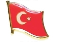 TURKEY - Wholesale lot of 12 flag hat lapel pins ef237