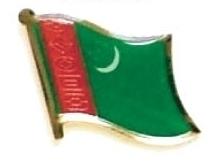 TURKMENISTAN - Wholesale lot 12 flag lapel pins ef238