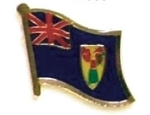 TURKS & CAICOS ISLANDS - lot 12 flag lapel pins ef239