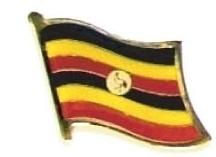 UGANDA - Wholesale lot of 12 flag hat lapel pins ef241