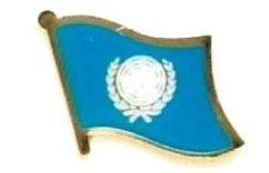 UNITED NATIONS - Wholesale 12 un flag lapel pins ef245
