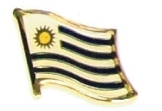 URUGUAY - Wholesale lot of 12 flag hat lapel pins ef247 image 1