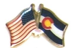 US / COLORADO - Lot 12 state flag friendship pins ec506