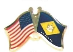 US / DELAWARE - Lot 12 state flag friendship pins ec508
