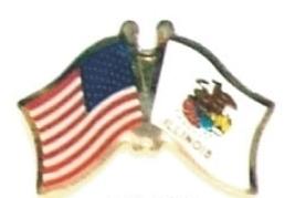 US / ILLINOIS - Lot 12 state flag friendship pins ec514 - $18.00