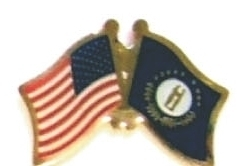 US / KENTUCKY - Lot 12 state flag friendship pins ec518