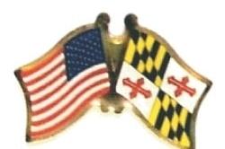 US / MARYLAND - Lot 12 state flag friendship pins ec521