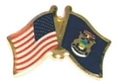 US / MICHIGAN - Lot 12 state flag friendship pins ec523
