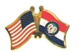 US / MISSOURI - Lot 12 state flag friendship pins ec526