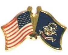 US / NORTH DAKOTA - 12 state flag friendship pins ec535