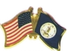 US / VIRGINIA - Lot 12 state flag friendship pins ec547