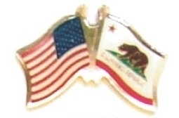 US CALIFORNIA - Lot 12 state flag friendship pins ec505